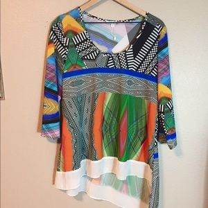 ADORE Colorful Blouse